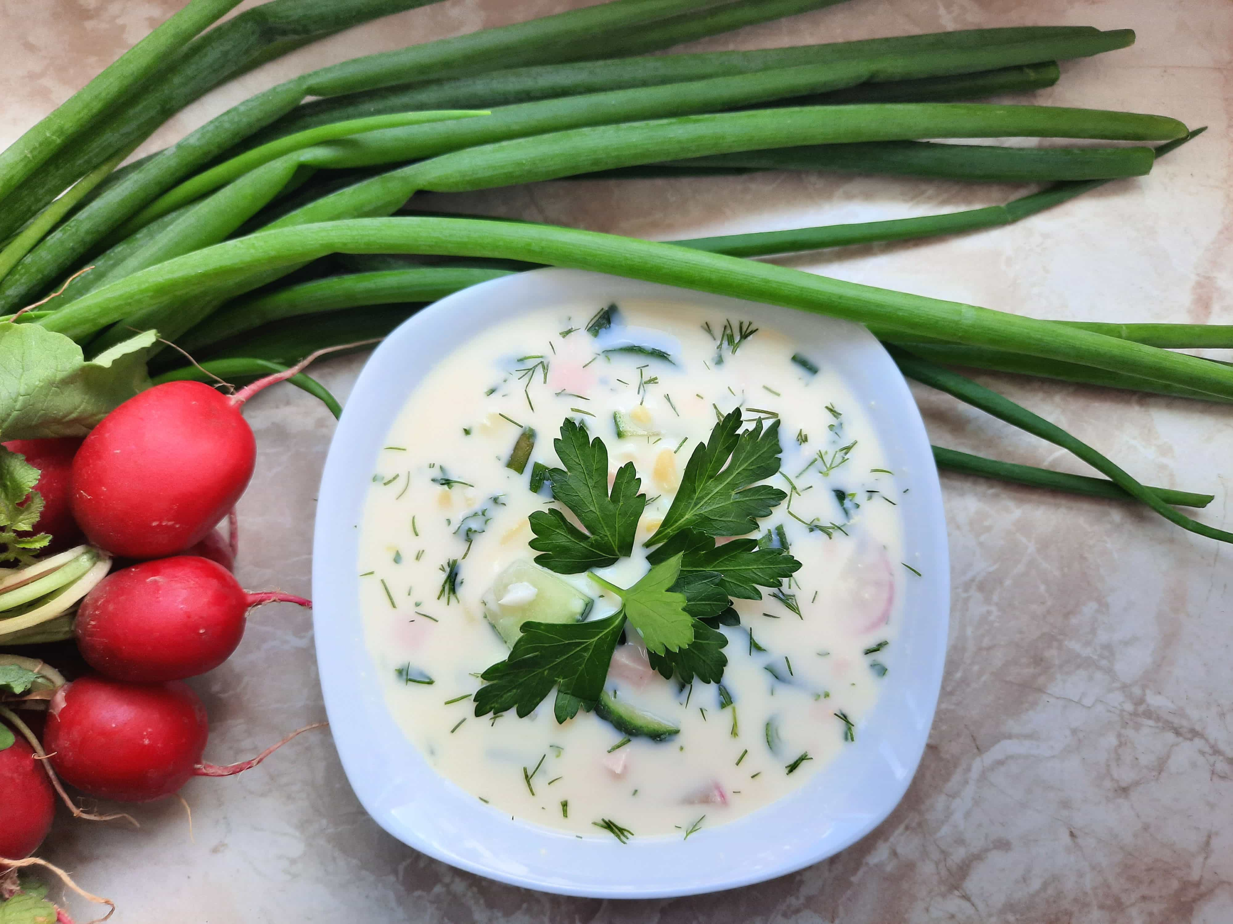 Okroschka-gesunde kalte Suppe nach russischer Art!